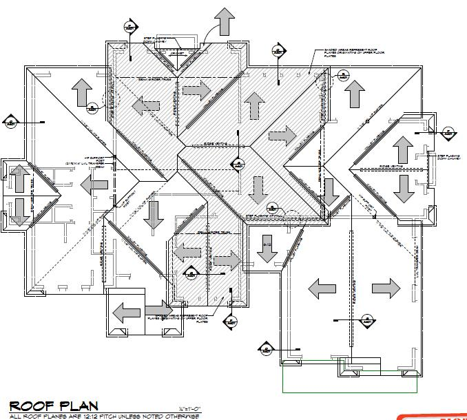 Sophisticated Roof Plan Contemporary Plan 3d House