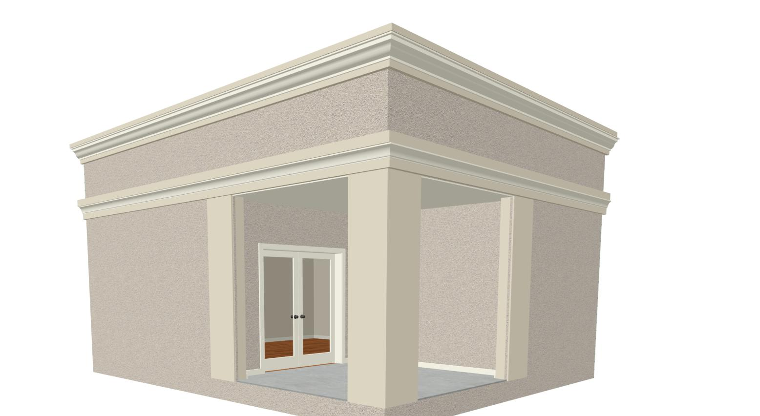 How to create Exterior Crown Molding
