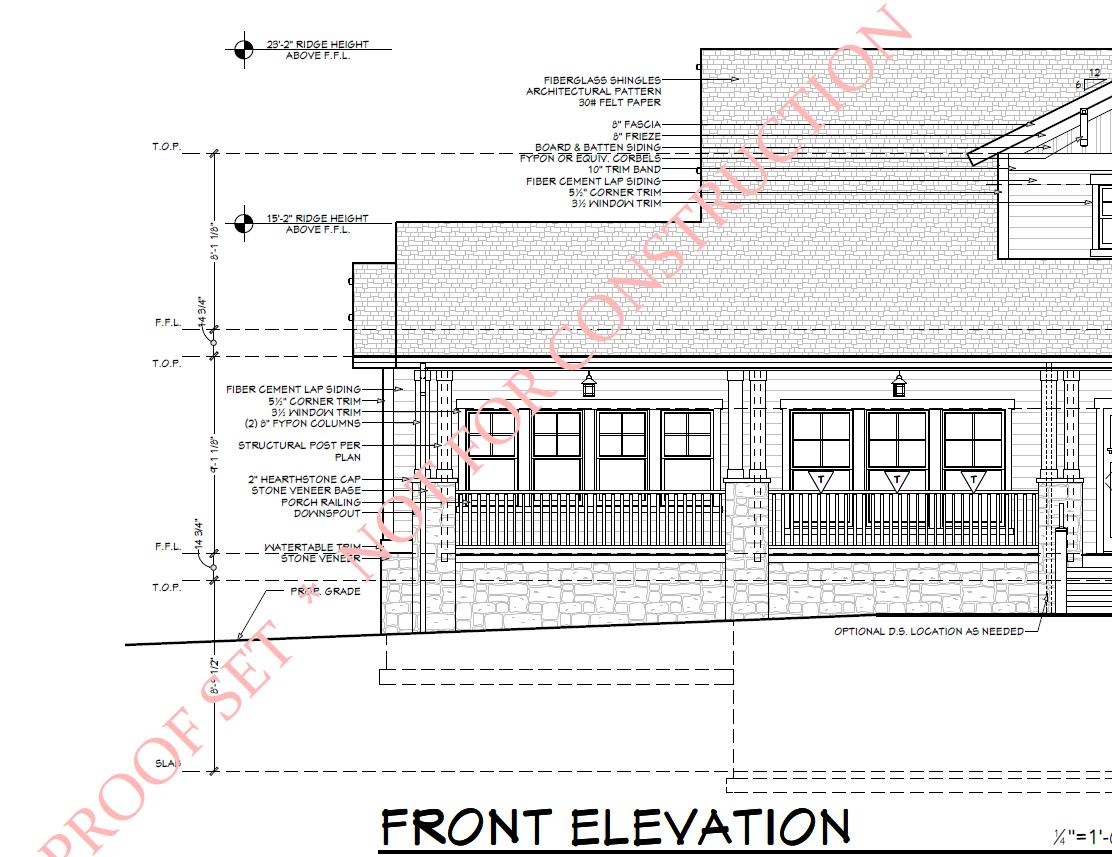 Board And Batten Dimensions Need Help With Doing Front Elevation Dimensions